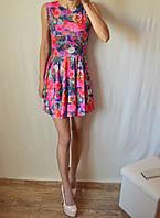 Красивое платье 3Д принт юбка-солнце