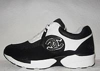 Кроссовки женские модные Chanel черного цвета
