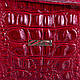 Современная  женская косметичка из натуральной кожи DESISAN SHI065-1KRLak красный, фото 6