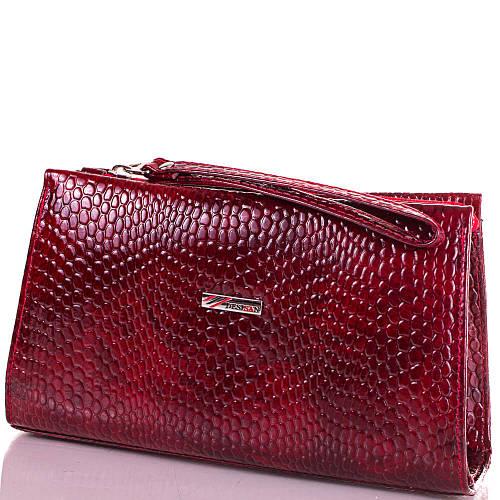 Фантастическая женская косметичка из натуральной кожи DESISAN SHI065-17Lak красный