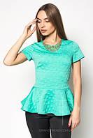 Блузка стильная модная c баской и украшением в разных цветах SRB62