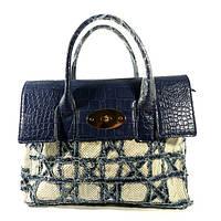 Сумка - рюкзак женская кожзам синяя Valensiy 1019-2