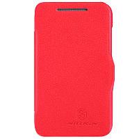 Кожаный чехол Nillkin Fresh для HTC Desire 200 красный