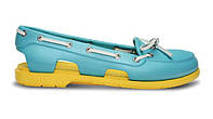 Женские Crocs Beach Line Boat Shoe Blue Yellow