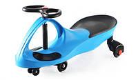 Машинка бибикар детская Smart Car Blue с полиуретановыми колесами SM-BP