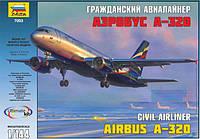 """Сборная модель Zvezda (1:144) Пассажирский самолет """"Аэробус А-320"""""""