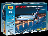 Сборная модель Zvezda (1:144) Пассажирский самолет Ту-154М