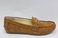 Замшевые женские мокасины коричневого цвета ТМ Este
