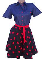 Молодежное платье из стрейч-коттона