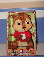 Веселый бурундучок - повторюшка, мягкая игрушка для детей и взрослых.