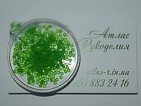 Бисер Preciosa Чехия №50430 matt 50г, светло-зеленый, прозрачный, матовый