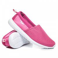 Женские летние низкие тканевые кроссовки розовые без шнурков