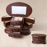 Деревянный настольный комод для украшений (27*14*16 см) подарок начальнице