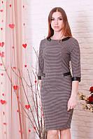 Платье деловое узор гусиная лапка р.46-50 Yam187.7