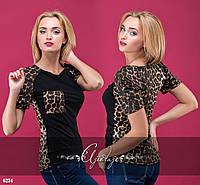 Футболка леопардовая