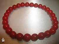Браслет из красного коралла 8 мм.