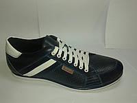 Туфли мужские летние спортивного стиля Tonkelli синие, р39