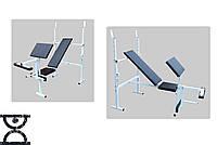 Скамья для жима RN Sport с приставкой Скотта и тренажером для ног