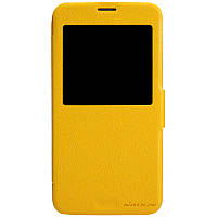 Кожаный чехол Nillkin Fresh для Samsung Galaxy S5 жёлтый