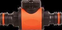 Двухсторонний коннектор с запорным краном