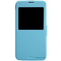 Кожаный чехол Nillkin Fresh для Samsung Galaxy S5 голубой