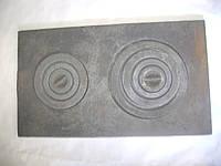 Плита чугунная 2-х конфорочная земляная