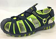 Босоножки яркие спорт с закрытым носком для подростков 31 32 33 34