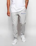 Мужские спортивные штаны (с начёсом) Champion серые спринтом