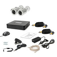 Комплект AHD видеонаблюдения на 2 уличные камеры Tecsar 2OUT, 1 Мп
