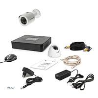 AHD комплект наблюдения на 2 уличные камеры (1+1) Tecsar 2OUT-MIX, 1 Мп