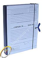 Папка-бокс архивная нотариуса с титулки с клапаном 4см,