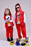 Детский спортивный костюм тройка штаны+кофта+жилетка Турция