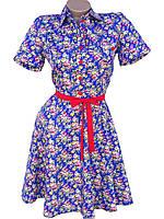 Яркие хлопковые платья на лето (в расцветках)