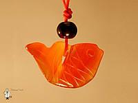 Амулет из сердолика «Золотая рыбка»