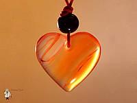 Амулет из сердолика «Сердце»