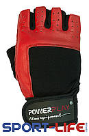 Перчатки  PowerPlay для фитнеса,зала,турника RED