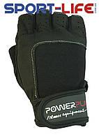 Перчатки PowerPlay для фитнеса и тяжелой атлетики ЧЕРНЫЕ