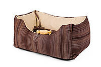 """AnimАll  лежак для собак   """"Natural"""" (100% cotton) №3 двусторонний  60 ×40*27 cm коричневый"""