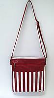 Женская сумка field bag, красная с белым.