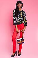 Шелковая Стильная Блуза с Принтом D&G Черная S-XL
