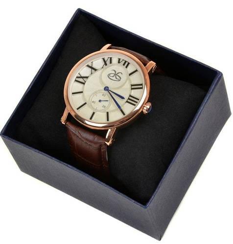 Мужские солидные наручные часы 8047 коричневый