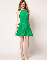 Распродажа по закупке. Платье Klimeda из плиссированного шифона малахитового цвета KM70279