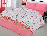 Постельное белье 145х210/70*70  ARYA Classi Yasmin красный