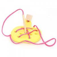 Руди Деревянная игра шнуровка Яблоко желтый Руди Д583у (дерево)