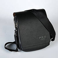 Мужская сумка POLO из кожи. Модная мужская сумка. Удобная сумка. Сумка с ремнем на плечо. Код: КДН7