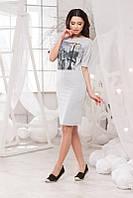 Женское модное платье с нашивкой , фото 1