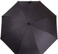 Мужской надежный зонт-трость с большим куполом, полуавтомат DOPPLER (ДОППЛЕР) DOP740867-5 серый