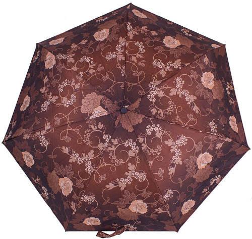 Автоматический надежный женский зонт, антиветер AIRTON (АЭРТОН) Z4915-2142 коричневый