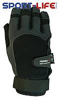 Перчатки длинные для кроссфита Powerplay ЧЕРНЫЕ ладонь с нескользящим покрытием