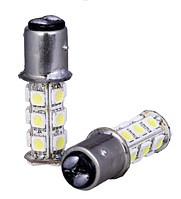 Светодиодная лампа белого 1157 BAY15D 18 СМД 5050 LED супер-яркий из светодиодов белый